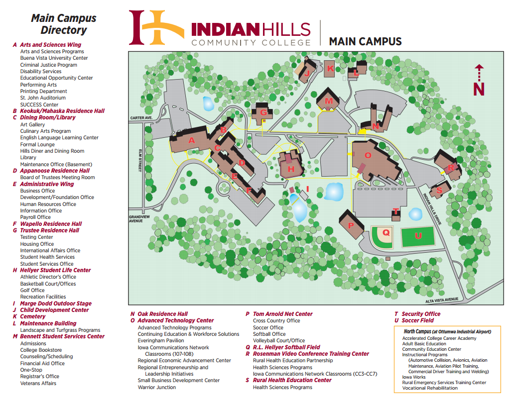 St Johns Campus Map.Indian Hills Community College Arts Sciences Facilities