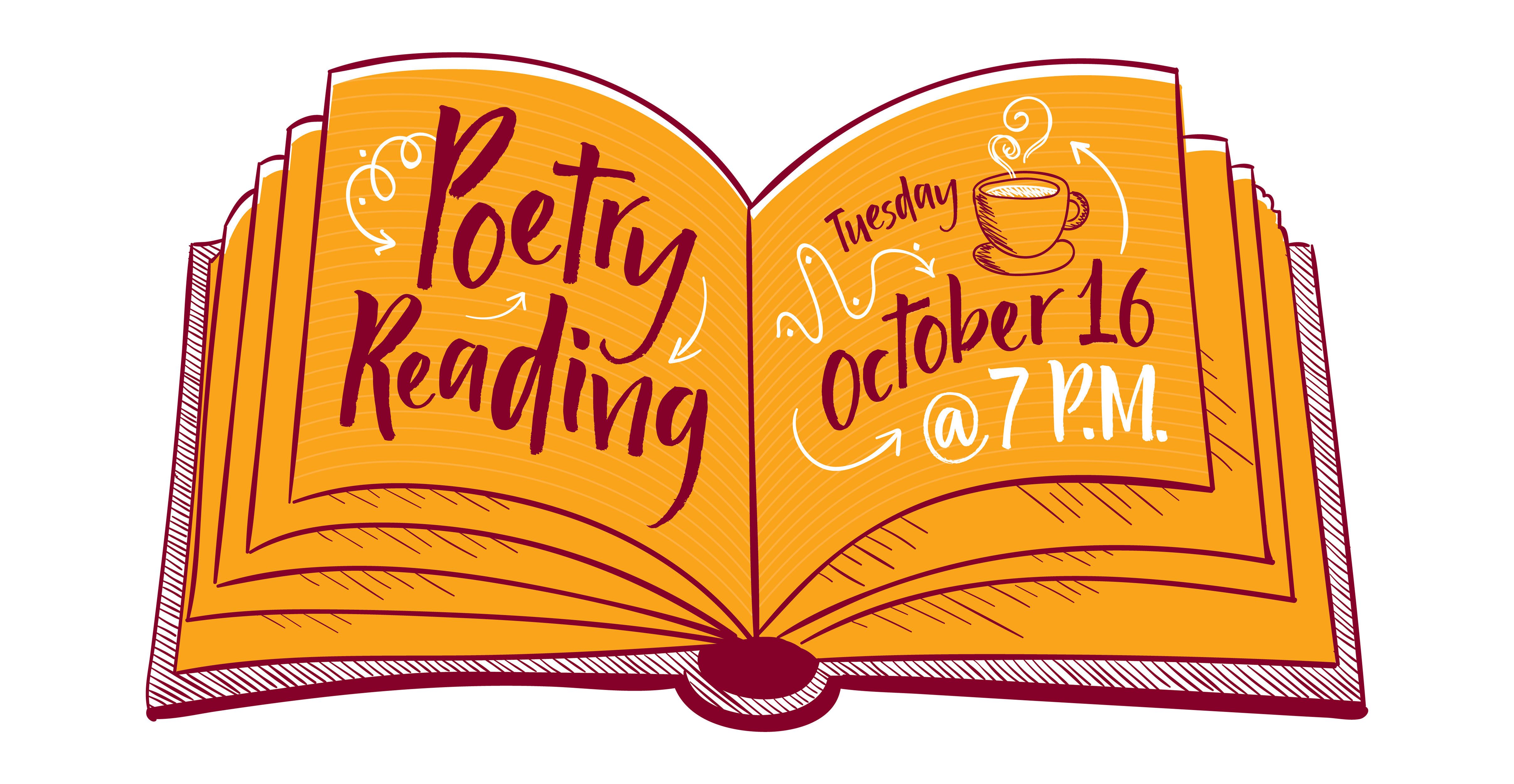 Poetry Reading - October 16 at 7:00 PM