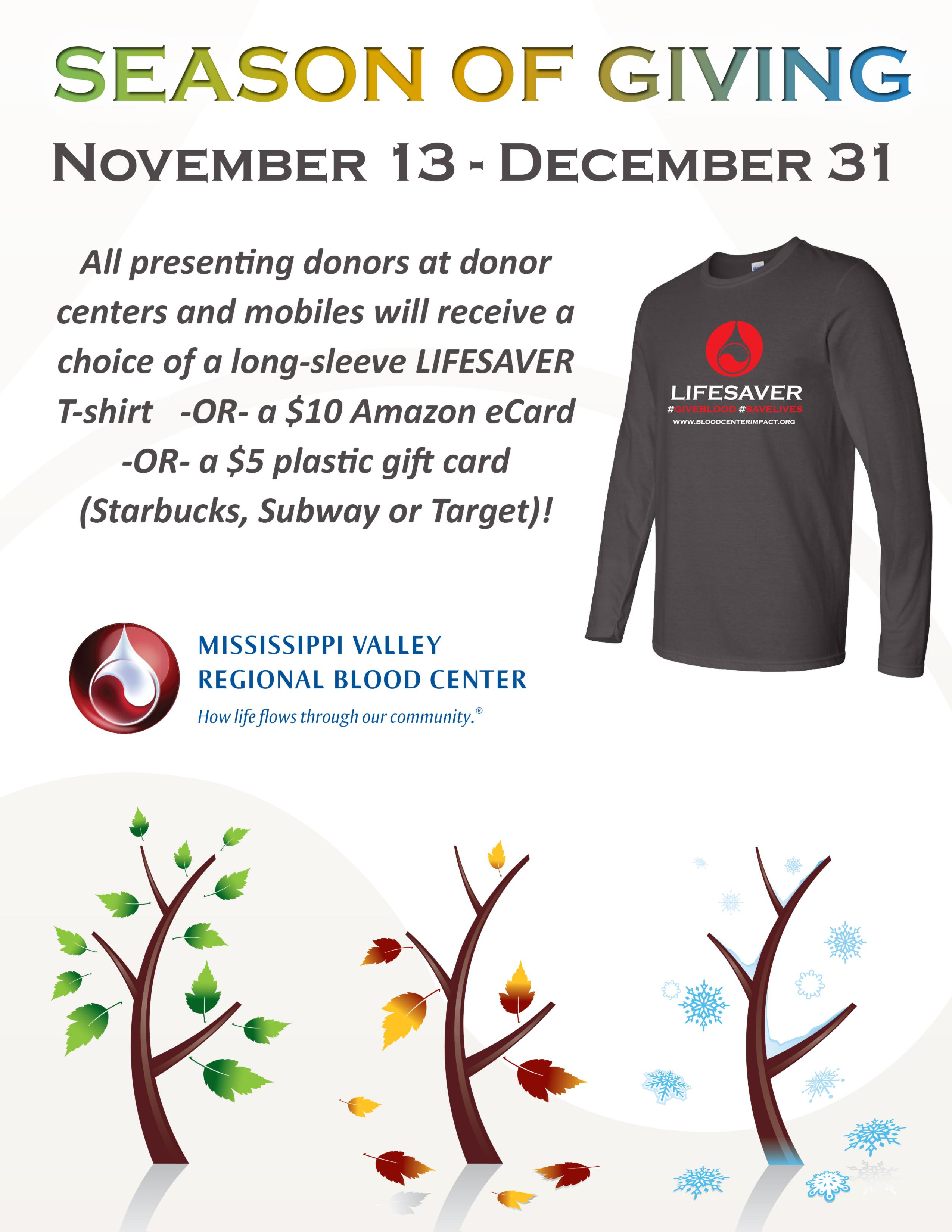 Blood Drive Promo - Free T-shirt with blood donation