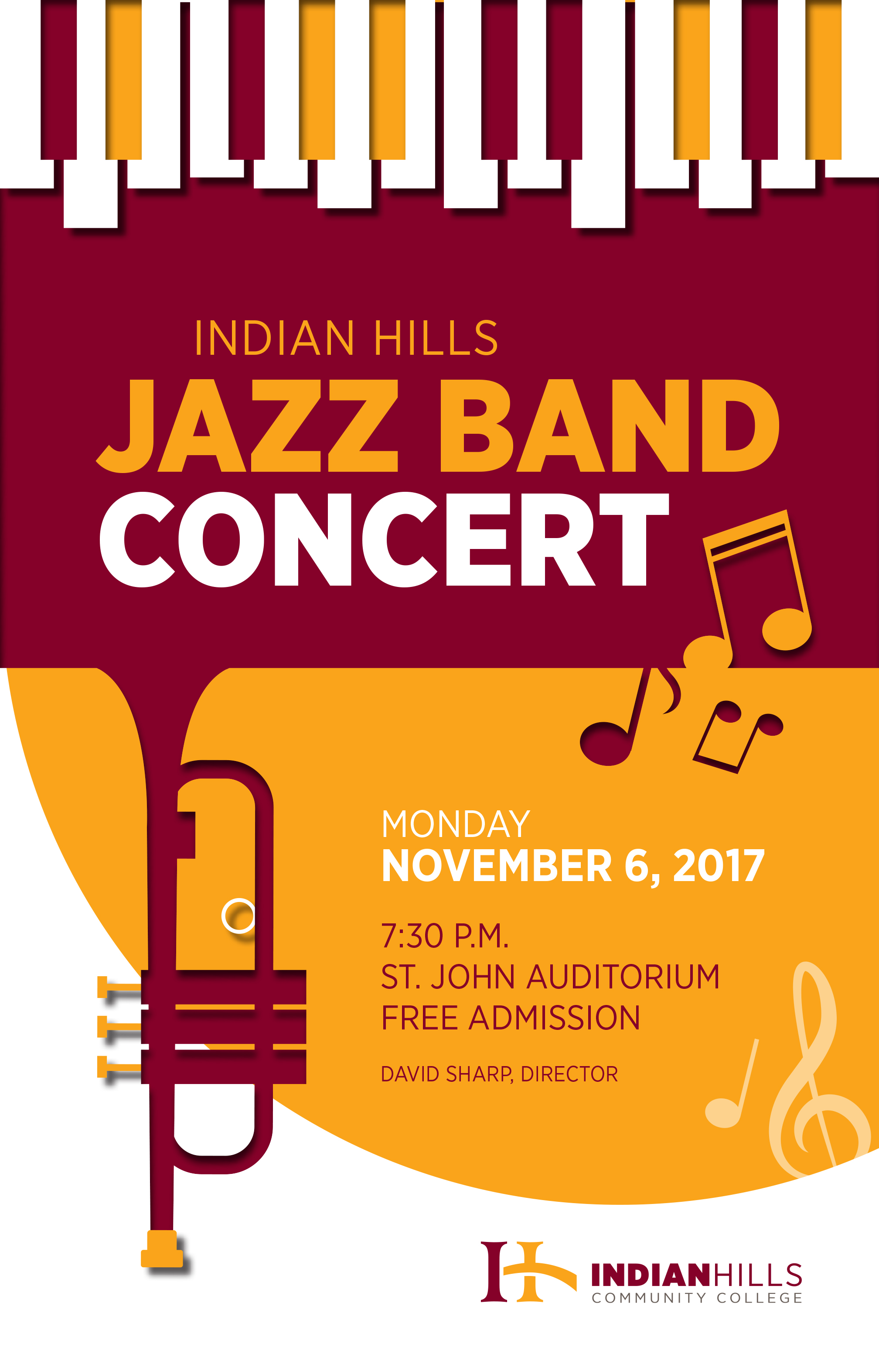 Jazz Band Concert Poster