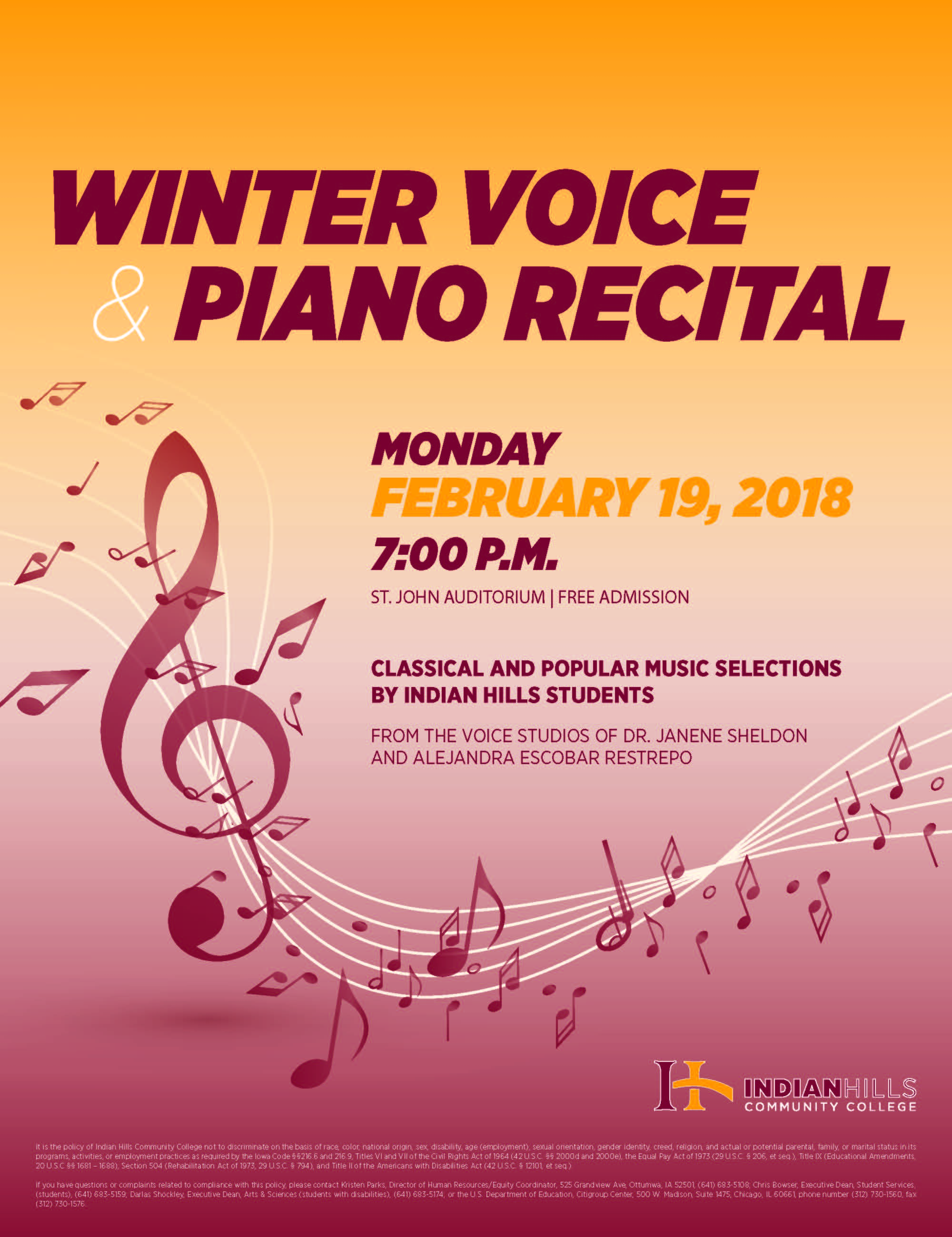Winter Voice and Piano Recital