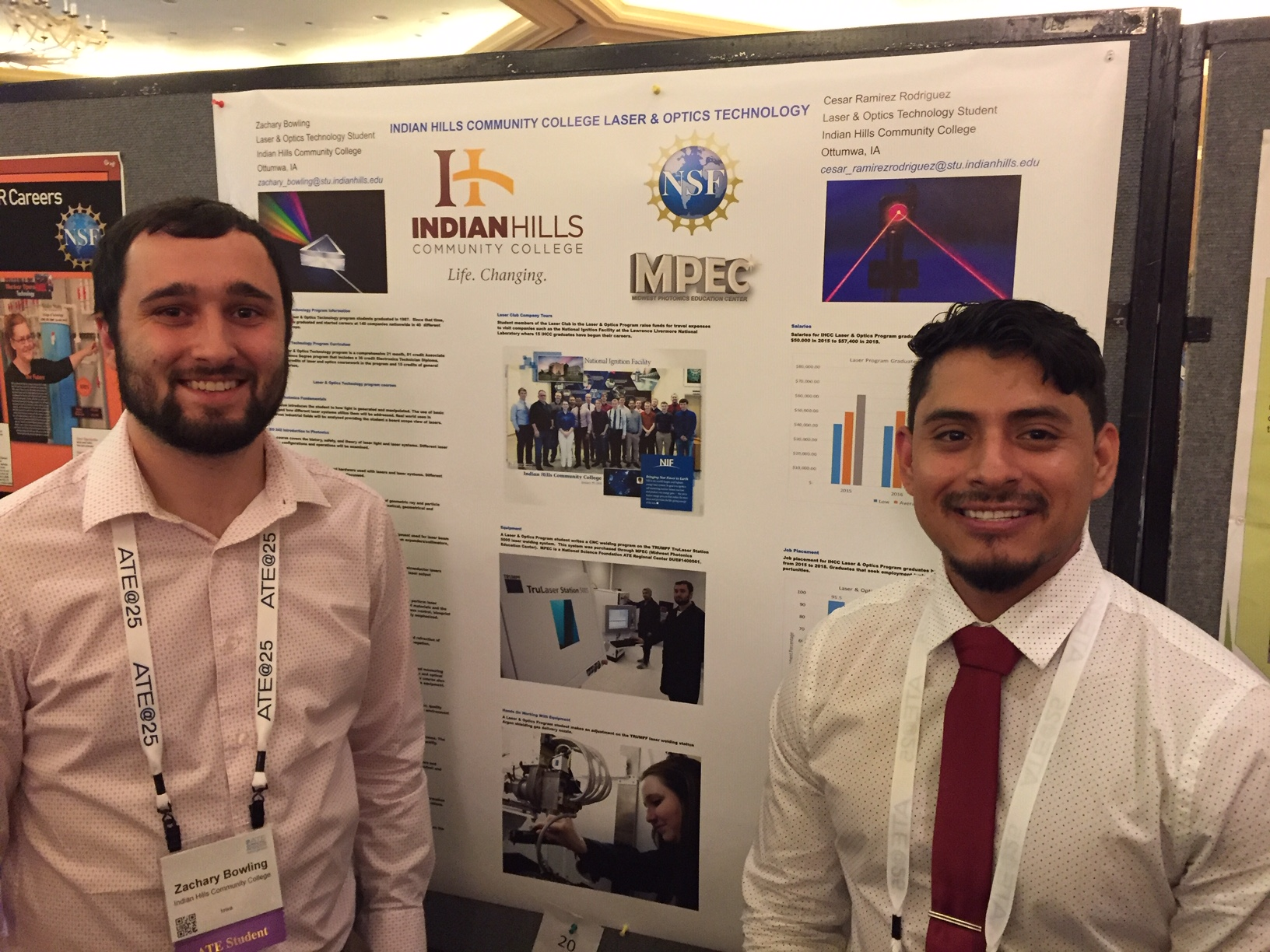 Zach and Cesar at ATE conference