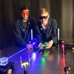 It was 1985 when the State Board of Public Instruction, now the Iowa Department of Education, gave its approval for Indian Hills Community College to begin the first Laser/Electro-Optics training program in the state.