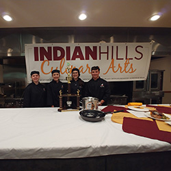The Culinary Arts Department hosted it's Fall Iron Chef Competition between area high schools.