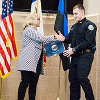 2 IHCC students from the Criminal Justice program have graduated from the Iowa Law Enforcement Academy.